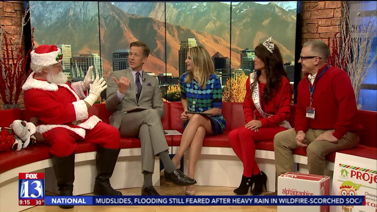 Mrs. Utah and Santa team up to help homeless children