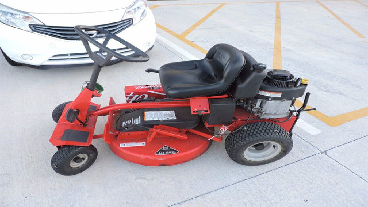 Man arrested for DUI while driving lawn mower