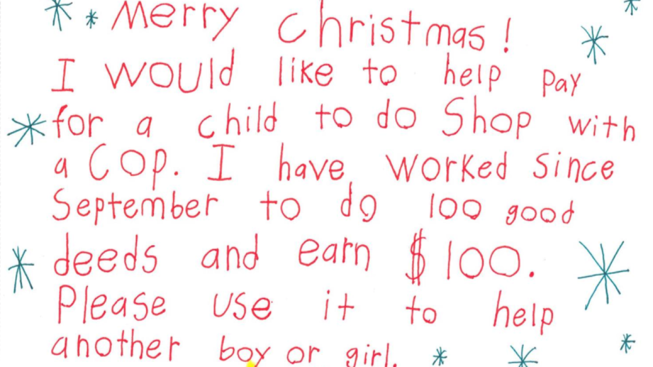 Ravenna boy donation Christmas