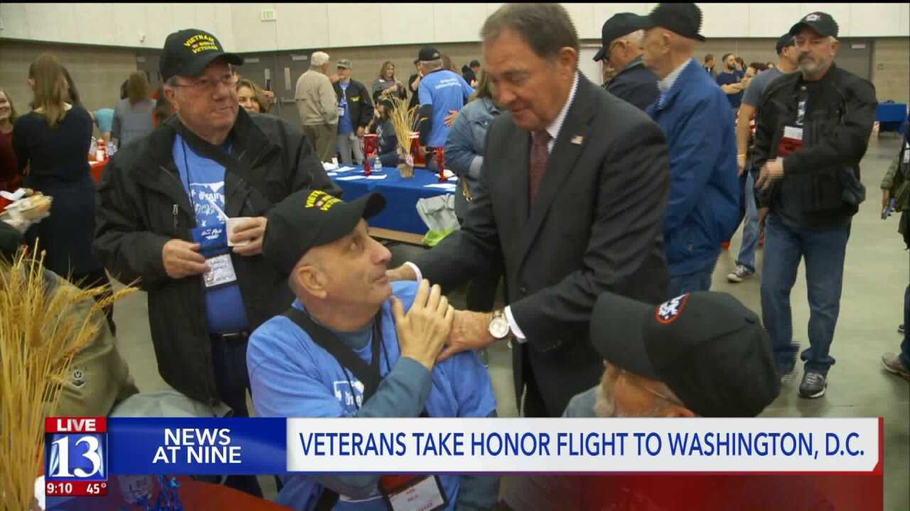 Utah veterans head to D.C. on 'Honor Flight'