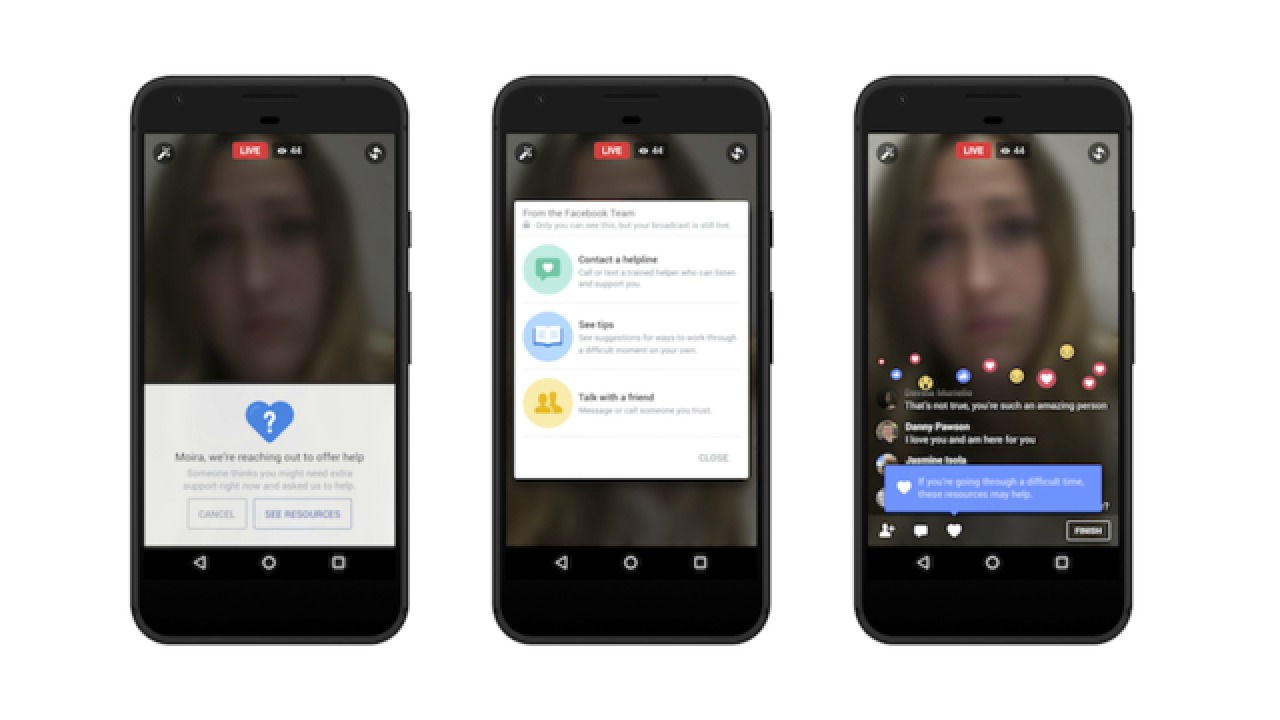 Facebook brings real-time suicide prevention to live video feeds