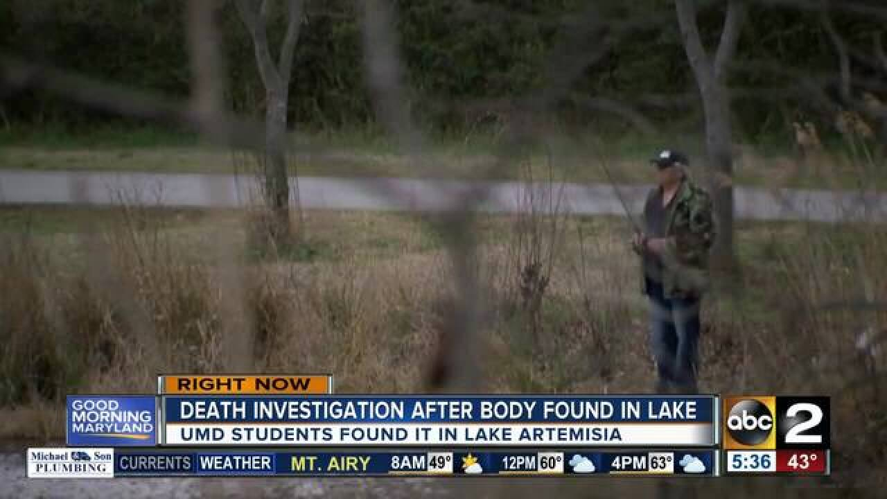 Body found in Maryland lake