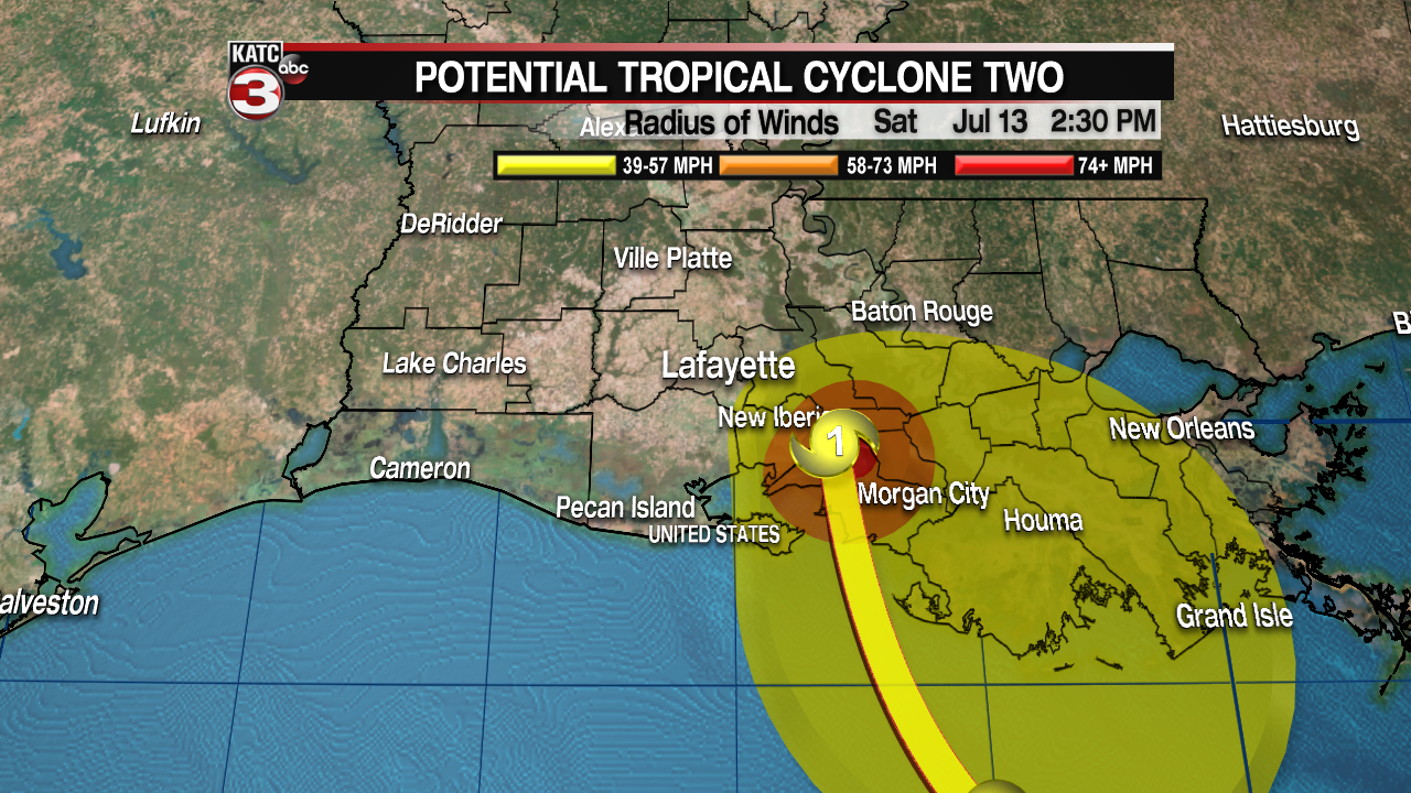 Tropical Storm Barry forms in Gulf