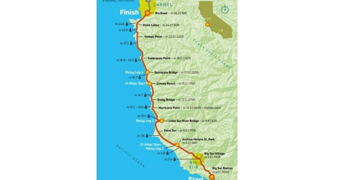 Big Sur marathon to close portion of Hwy 1 Sunday