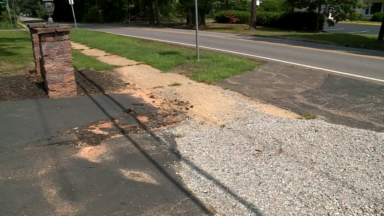 Chester homeowner says crew left hole in sidewalk for months