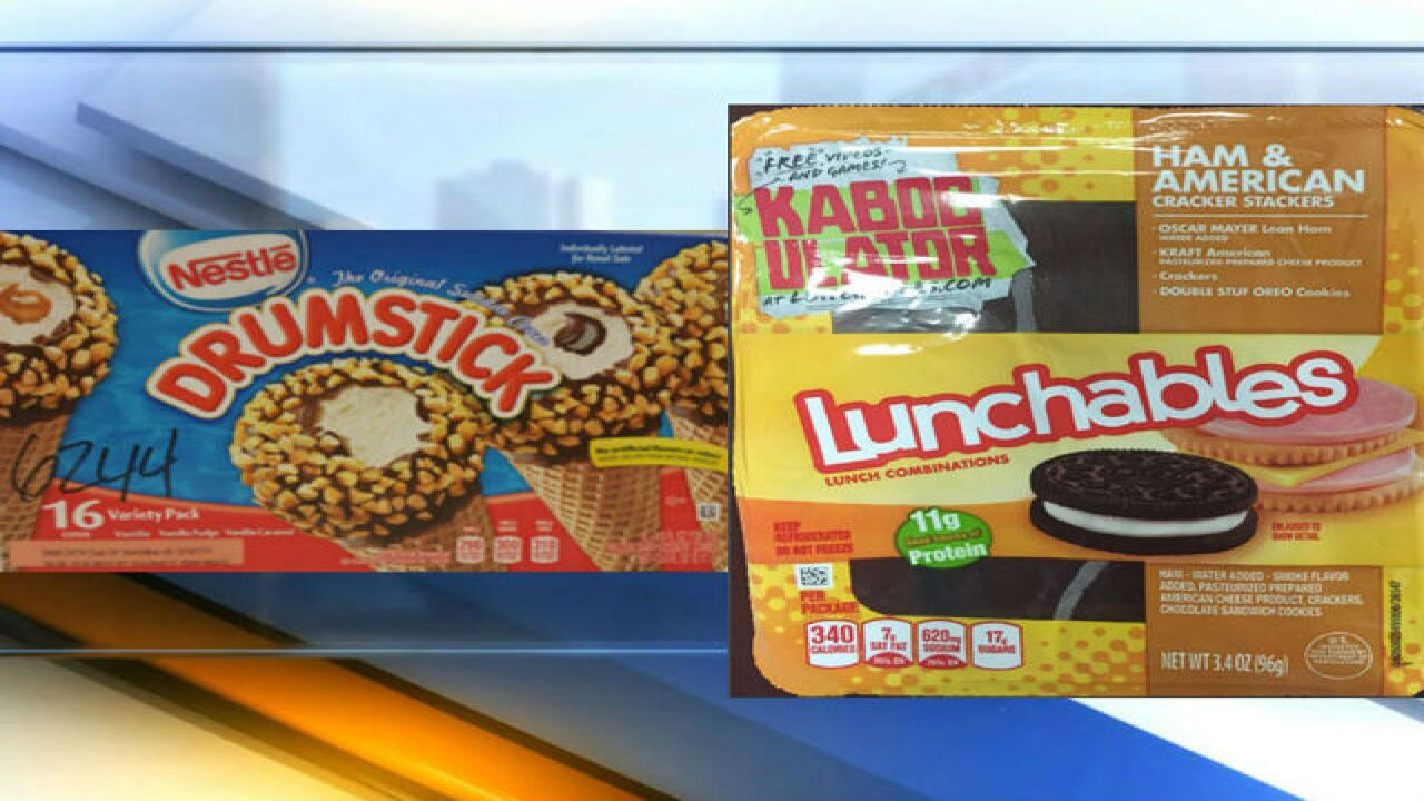 Nestle ice cream, Lunchables recalled