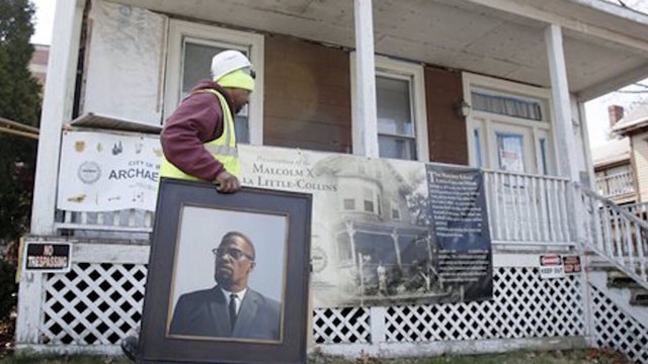 Malcolm X's home the site of archaeological dig