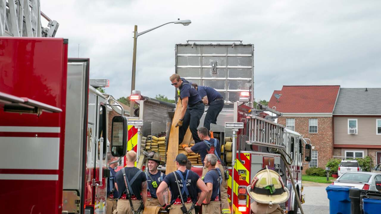 VB 3300 Diana Lee Court townhouse fire (August 20)