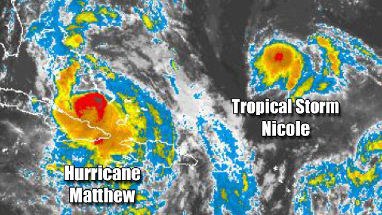 Could Hurricane Matthew run into T.S. Nicole?