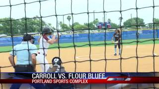 Flour Bluff takes a 2-0 win over Carroll in Game 1 softball action