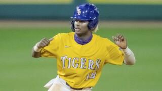 LSU Tre' Morgan LSU Baseball 2021