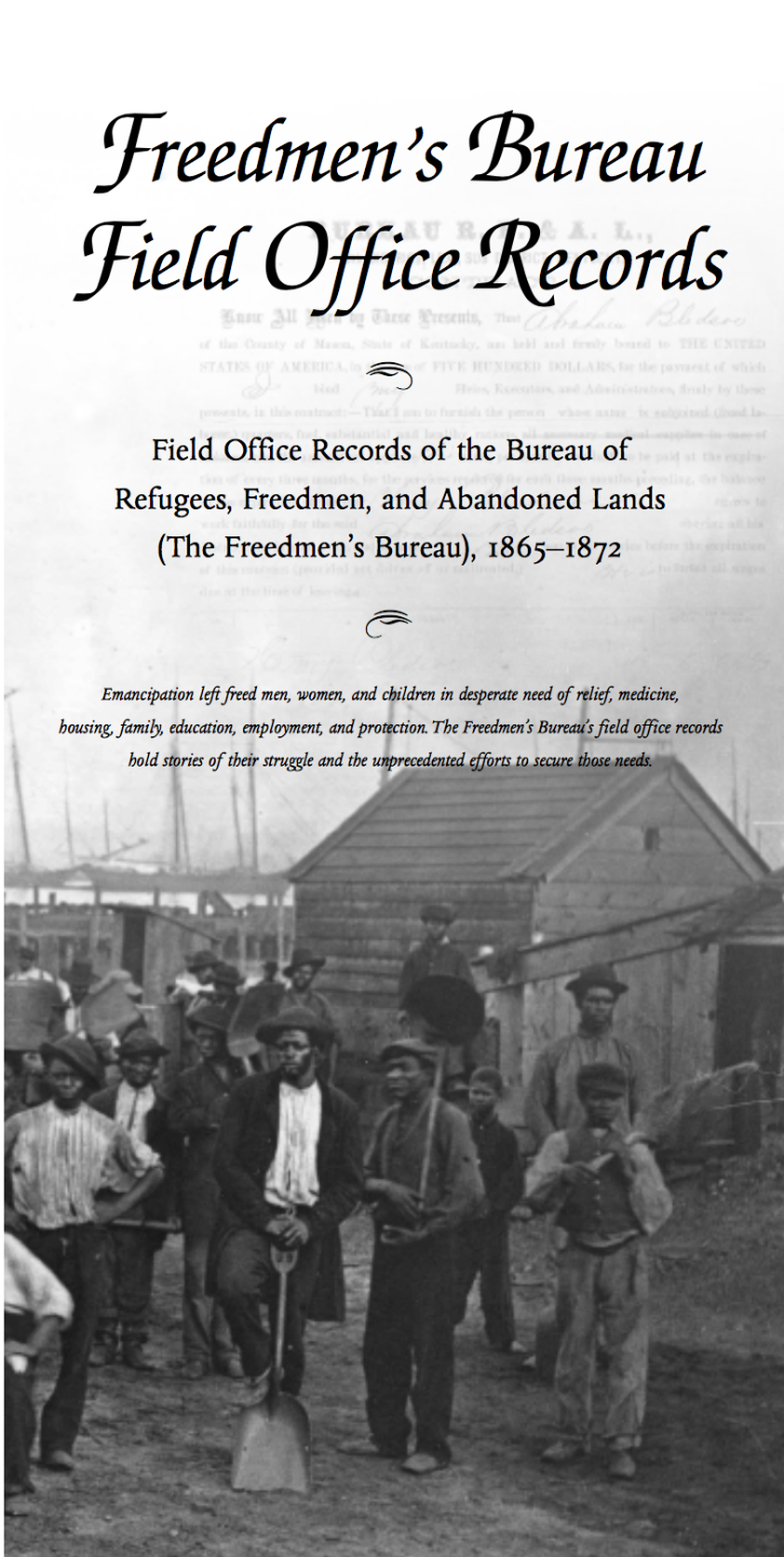 The cover of The National Archives Freedmen's Bureau Records