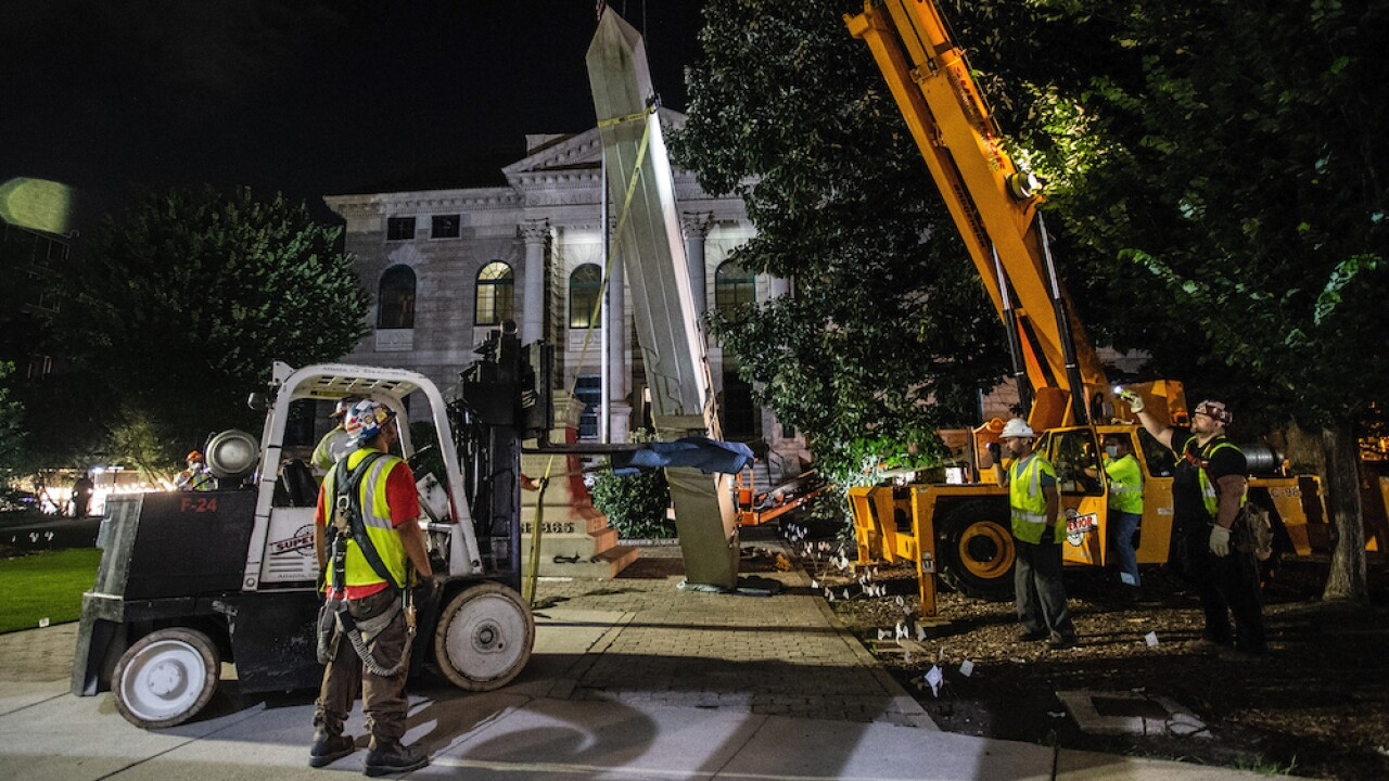 Confederate monument removed from Georgia town square ahead of Juneteenth