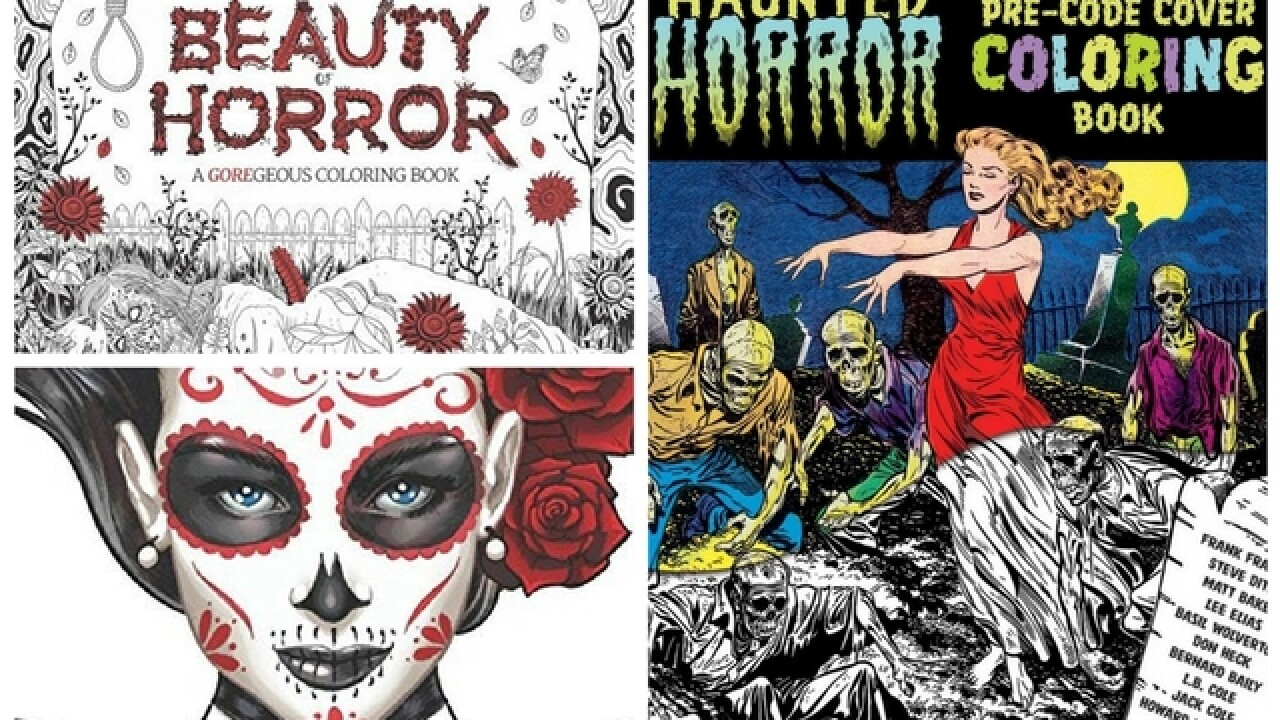 We found 5 really creepy coloring books