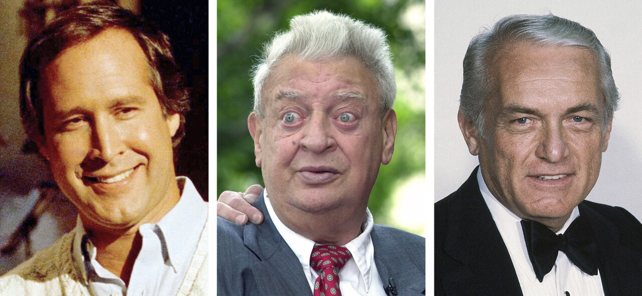 Chevy Chase, Rodney Dangerfield and Ted Knight, 'Caddyshack' actors