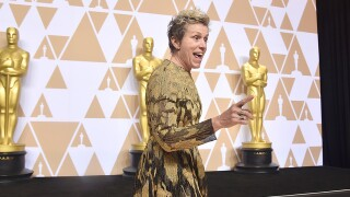 Man arrested, accused of stealing Frances McDormand's Oscar trophy
