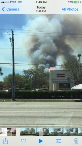 Crews battle fires in Charlotte County and San Carlos Park