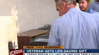 Veteran receives free air conditioner