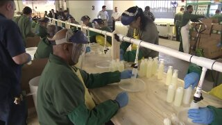 Prison inmates make hand sanitizer that will be distributed in New York