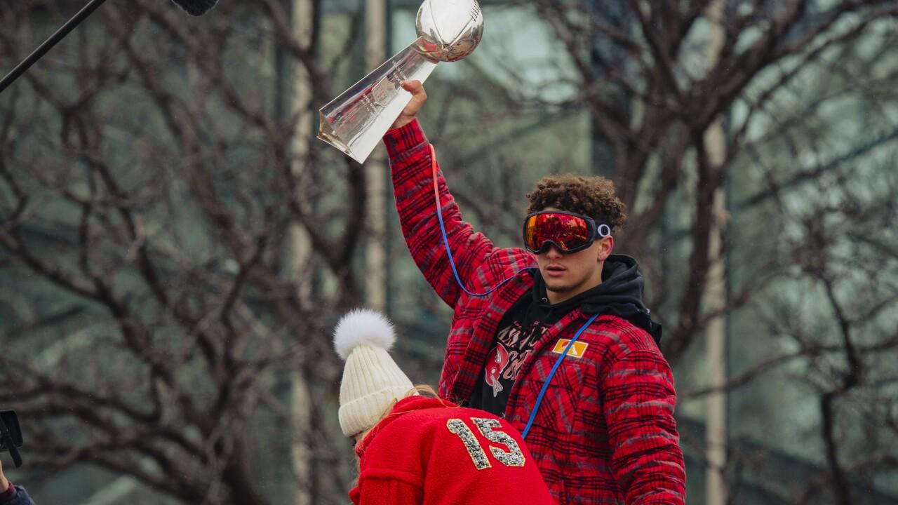 Kansas City Chiefs Victory Parade Patrick Mahomes