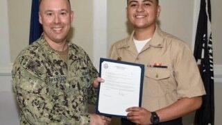 Photos: Watch: Memorial service held for Navy Sailor killed in Fort Storycrash