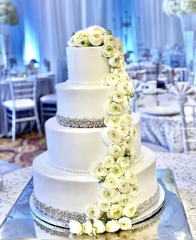 Iversen's Bakery Four Tier Wedding Cake