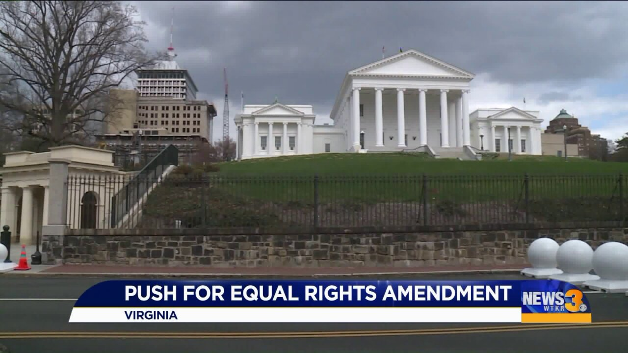Virginia could become last state needed to ratify Equal Rights Amendment