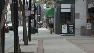 downtown street scene 2020