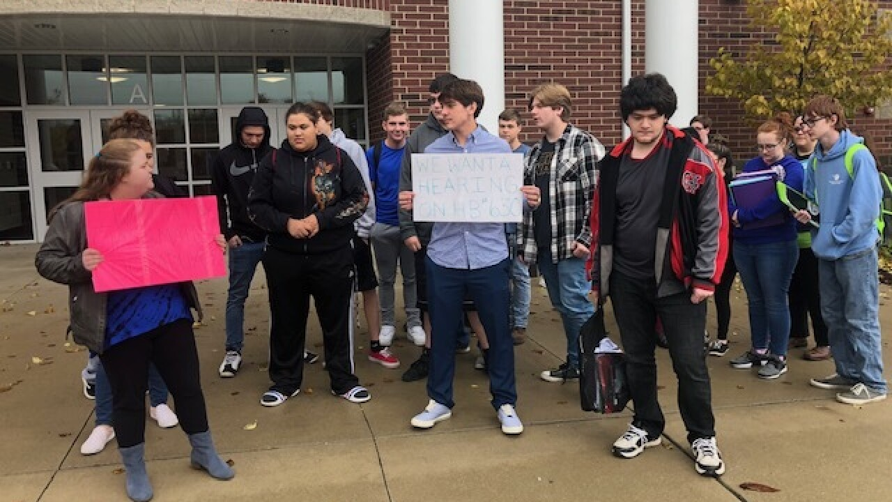 Students stage walkout over graduation concerns