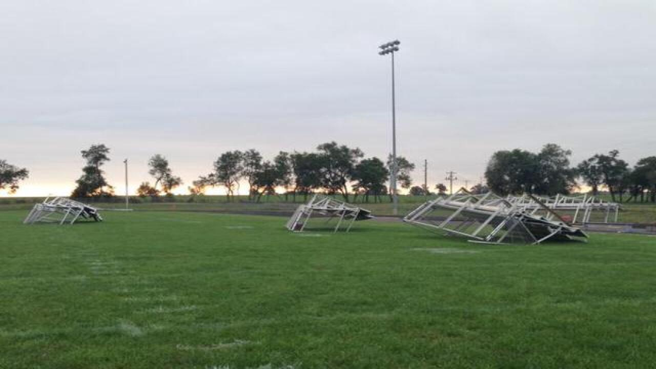 Cass Co. school deals with aftermath of tornado