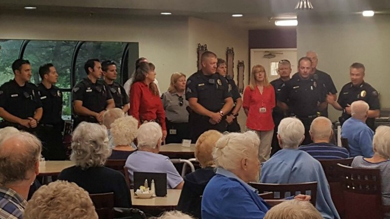 Arvada seniors celebrate local officers
