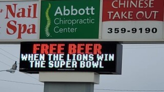 Store owner offers free beer, brats - but there's a catch