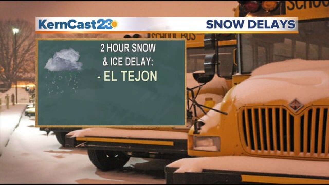 El Tejon Unified School District closed due to weather