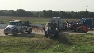 Crash on I-35 in Elm Mott
