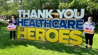 Dunkin' Donuts, Baltimore Ravens deliver 3,100 donuts to MedStar Health's hospitals.jpg