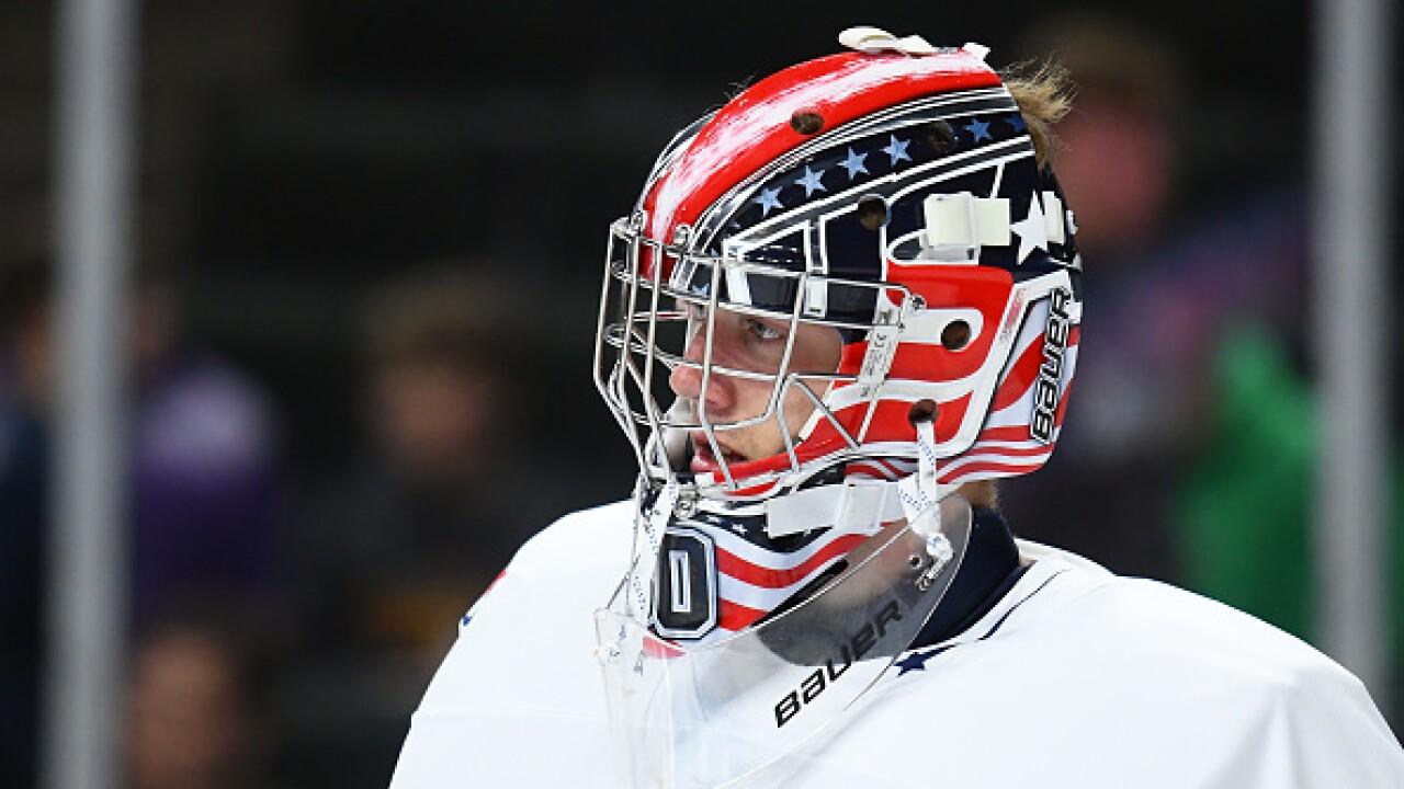Spencer Knight Eyes Hockey History As American Born Goaltender