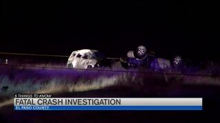 Person killed in car crash with state trooper on I-25