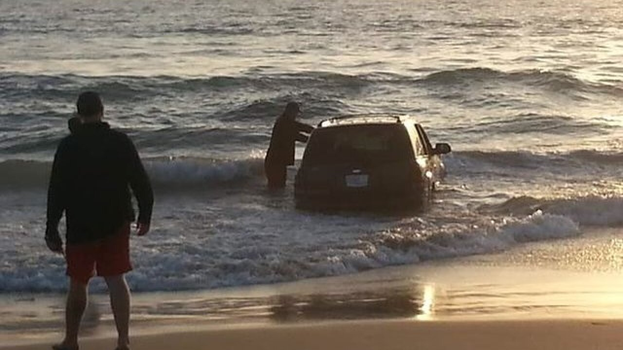 Suspected DUI driver takes a dip in IB