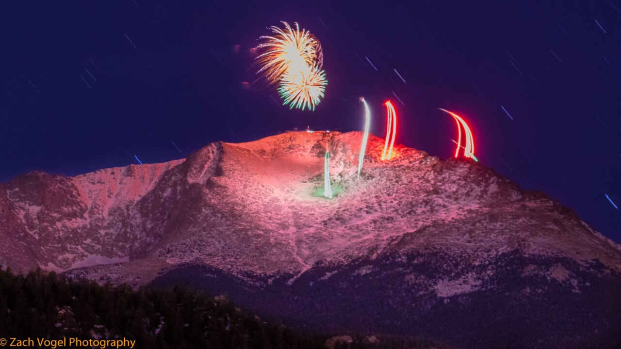 New Years Eve Fireworks on Pikes Peak from Zach Vogel Photography 2.jpg
