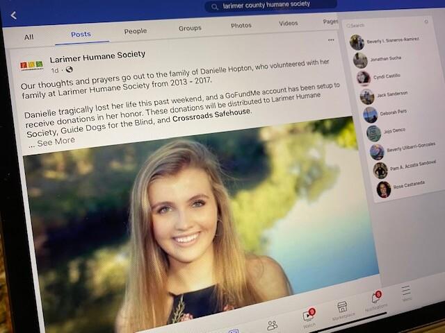 Larimer Humane Society Facebook page