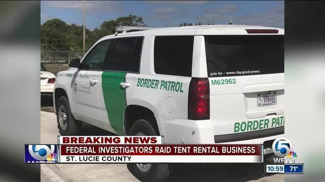 PHOTOS: Federal investigators raid TentLogix in Fort Pierce