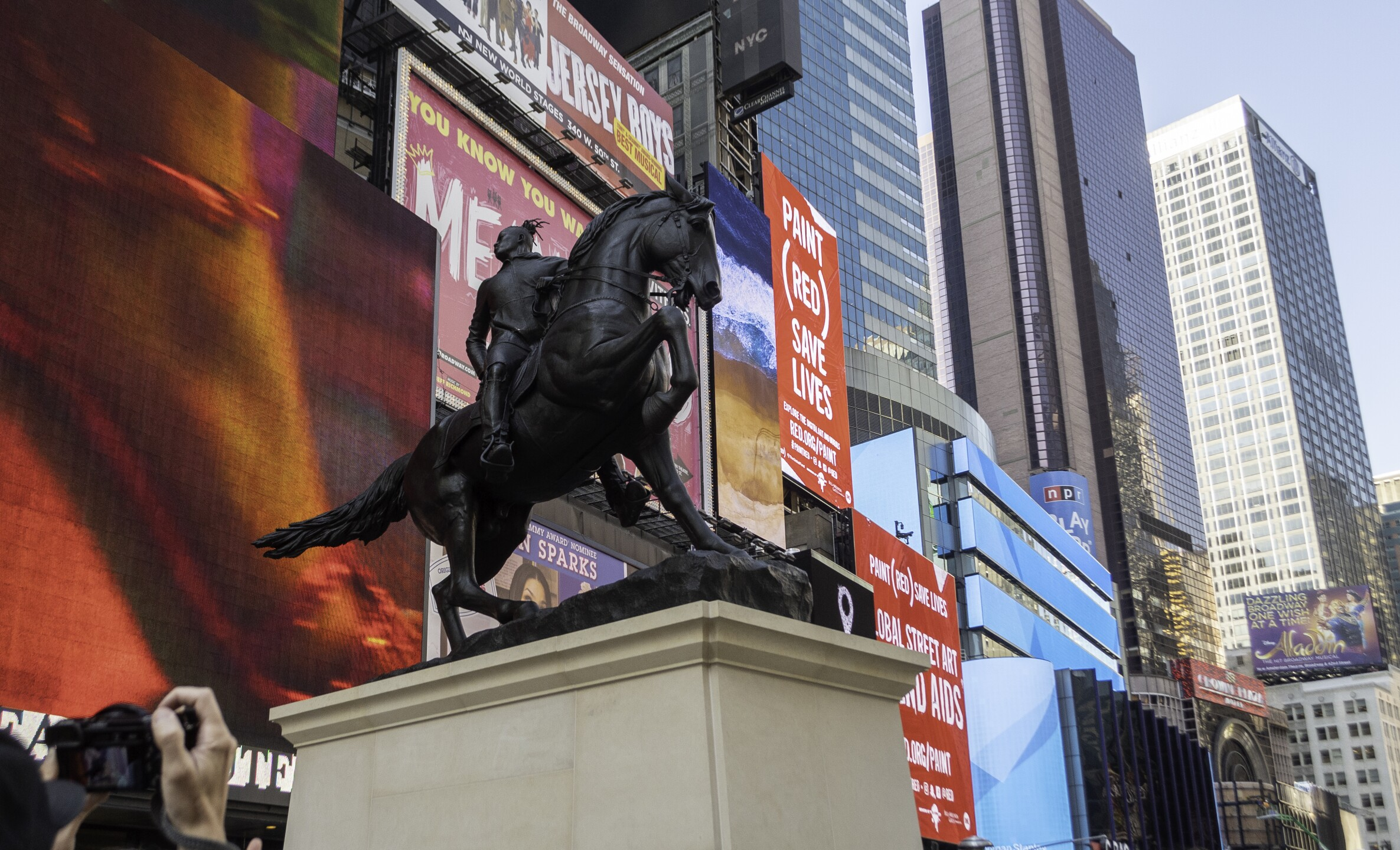 Photos: Kehinde Wiley sculpture unveiled in NYC, heads South inDecember