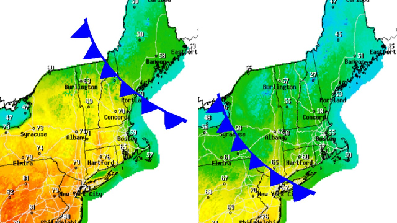 Backdoor cold front is chilling the Northeast