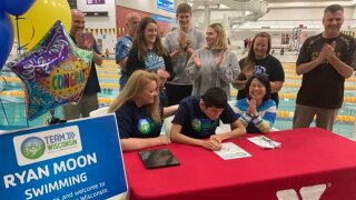Ryan Moon signs commitment to Special Olympics 2022