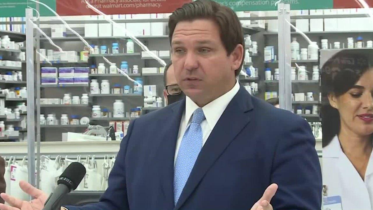 Gov. Ron DeSantis speaks in Jacksonville, Feb. 9, 2021