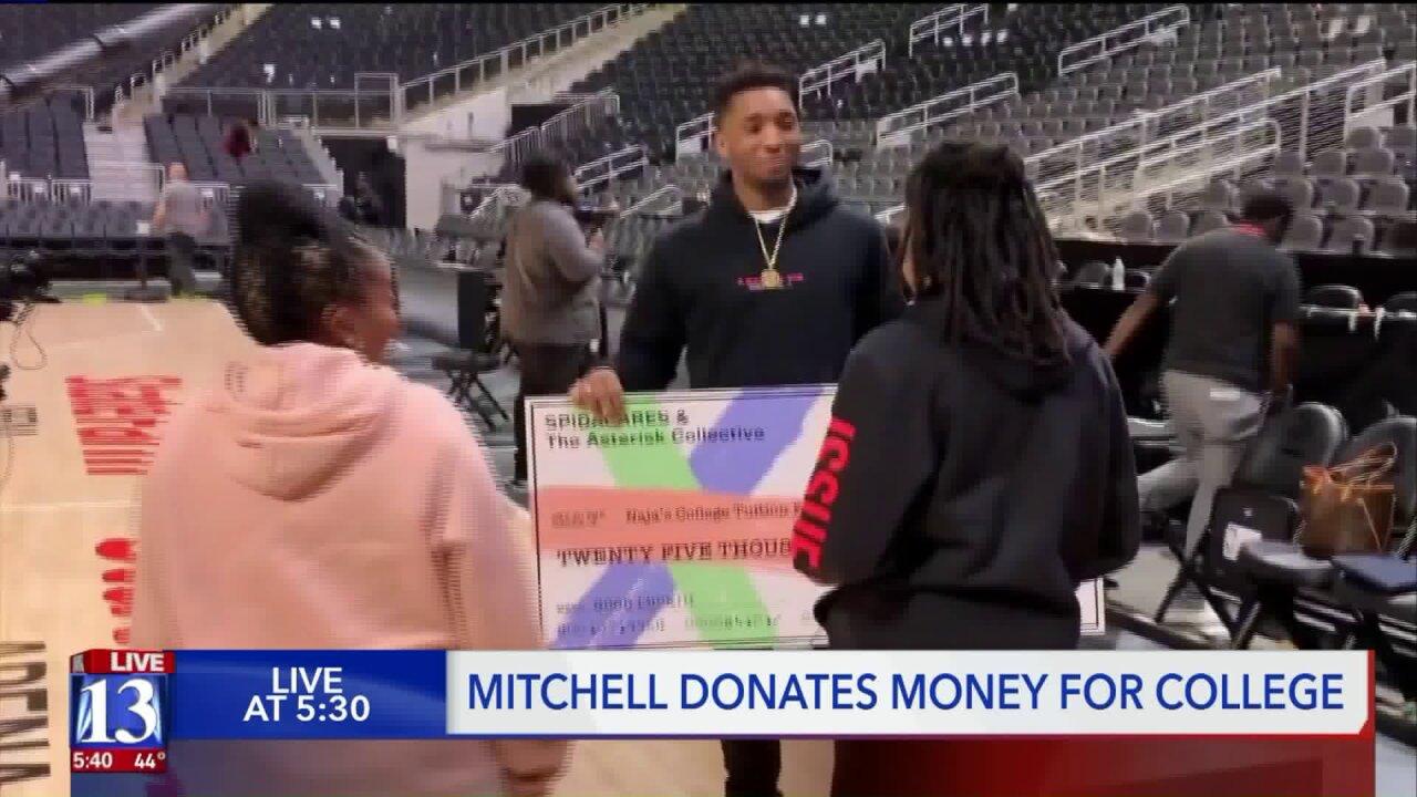 Donovan Mitchell gifts fourth-grade teacher's daughter $25,000 aftergame