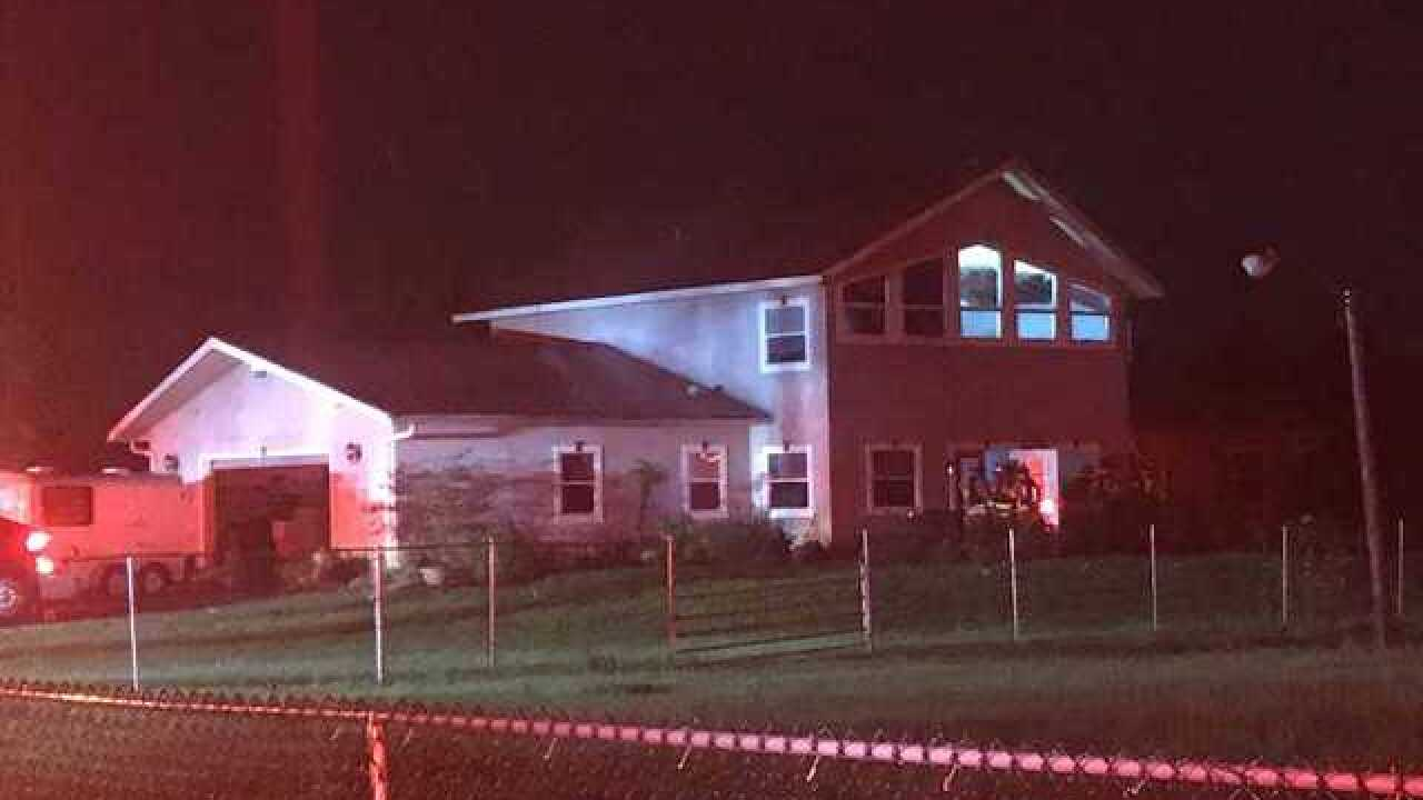 Lightning strike causes house fire