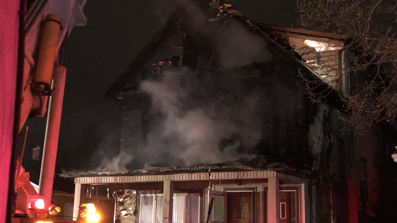 Fire rips through two homes in South Buffalo