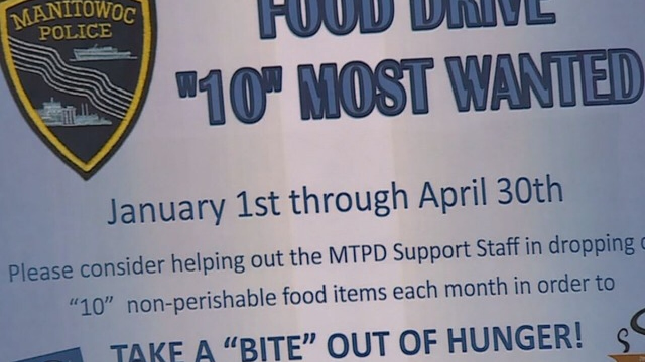 Manitowoc P.D. holds '10 Most Wanted' food drive