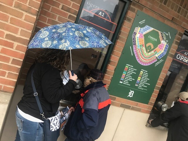 PICTURES: A rainy downtown Detroit after Tigers Opening Day postponed